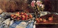 assiette de fraises by nicolai babasiouk