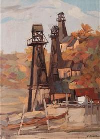 wells in prahova valley by constantin artachino