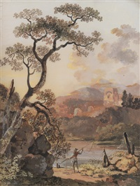 landschaft mit ruinen (in 2 parts) by balthasar anton dunker