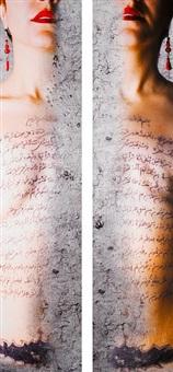 untitled (diptych) by mania akbari