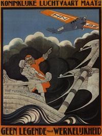 koninklijke luchtvaarl matt/ geen legende maar werk elijkheid (poster) by anthonius mathieu guthschmidt