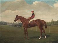 le crack et le jockey sur le champ de course by george arnull