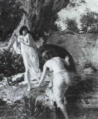 femmes au bain by paul merwart