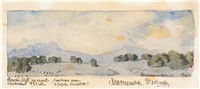landscapes (3 works) by maximilian alexandrovich voloshin