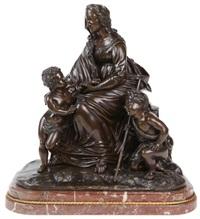 la vierge à l'enfant jésus et saint jean-baptiste enfant by jean jacques pradier