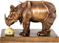 rhinocéros habillé en dentelles by salvador dalí