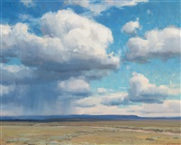prairie and clouds by clyde aspevig
