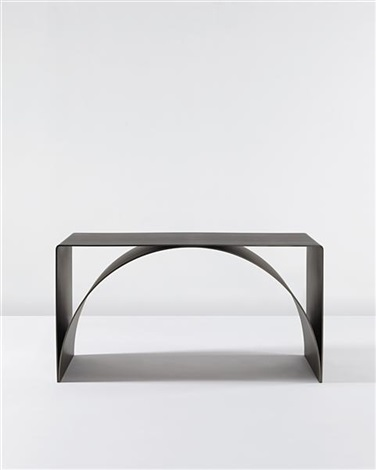 arch plate table by scott burton