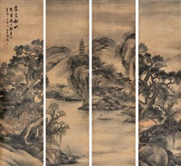 landscape (6 works) by ma hansan