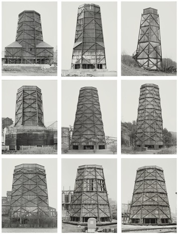 cooling towers set of 9 by bernd and hilla becher