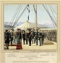 in memory of the august visit of his highness the shah of persia naser eddin to the caspian fleet at astrabadsky bay by oscar de liphart