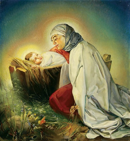 the virgin adoring the infant christ by ingrid pitzer