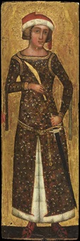 a knight saint (panel from a polyptych) by italian school-lombardy (15)