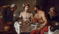 jupiter and mercury in the house of philemon and baucis by johann heiss