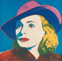 ingrid bergman (three portraits of ingrid bergman) by andy warhol