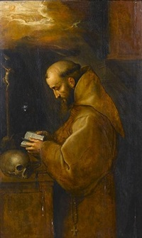 saint anthony of padua in prayer by frans badens the younger