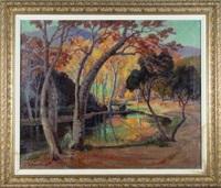 autumn scene by evylena nunn miller