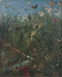 fleurs dans un paysage : l'eté by gustave doré