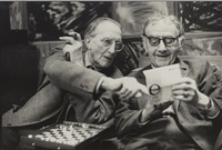 marcel duchamp et man ray, rue férou by henri cartier-bresson