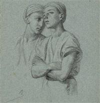 deux jeunes arabes (study) by alexandre bida