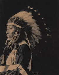afraid of eagle, sioux by frank a. rinehart