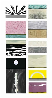 ten landscapes (set of 10) by roy lichtenstein