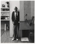 david hockney in his studio by arnold newman