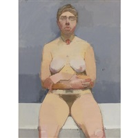 nude with arms folded by euan uglow