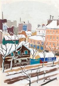 la ville sous la neige by renee bernard