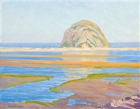 morro rock, morro bay, california by clyde eugene scott