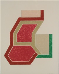 eccentric polygon series: sunapee by frank stella
