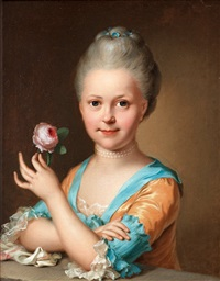 young girl with a rose by ulrika (ulla frederika) pasch