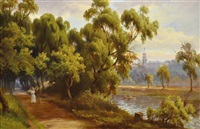 on the yarra river near the botanic gardens by george alfred john webb