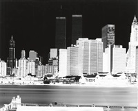 lower manhattan skyline with twin towers by vera lutter