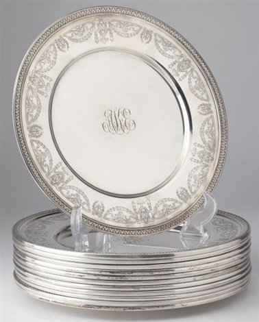 dinner plates (set of 12) by baldwin and miller & Dinner plates set of 12 by Baldwin and Miller on artnet