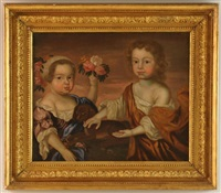 portrait of two children by john smibert