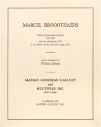 photographic portraits (portfolio of 16 + 1 other; 17 works) by marcel broodthaers