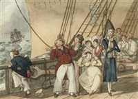 tom raw departs for india (+ tom raw at sea; pair) by charles (sir) d'oyly