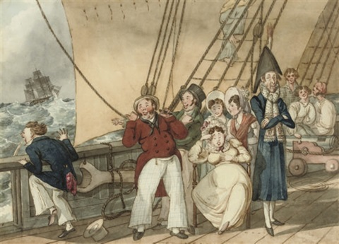 tom raw departs for india tom raw at sea pair by charles sir doyly