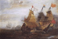 a naval engagement between spanish and dutch ships by andries van eertvelt