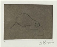 light bulb (from 1st etchings, 2nd state) by jasper johns