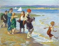 the bathing beach by edward henry potthast