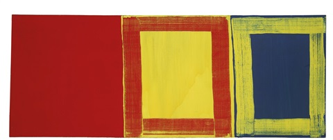 the first red yellow and blue by mary heilmann