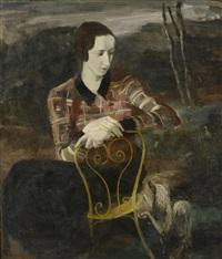 portrait de femme assise by pierre prince de wolkonsky