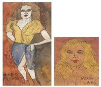 veronica lake and marie prevost (2 works) by justin mccarthy
