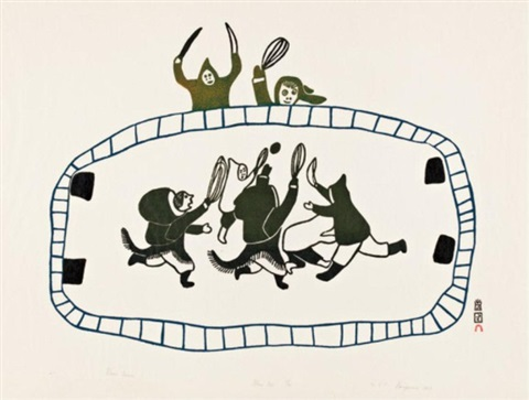ball game 21 by napatchie pootoogook