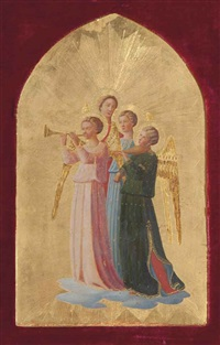four music making angels by fra angelico