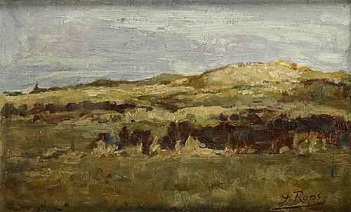 dunes près de knocke by félicien joseph victor rops