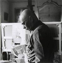 andré lanskoy dans son atelier, avenue mozart. paris by jean-francois bauret