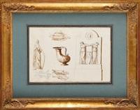 etude d'une frise à l'antique (study) by pierre françois léonard fontaine